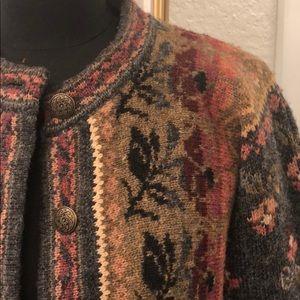Icelandic Design Wool Cardigan Jacket